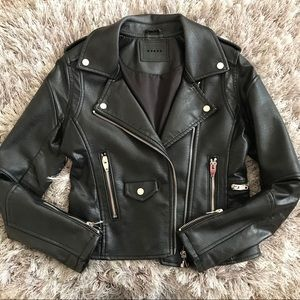 Blanc Nyc Faux Leather Moto Jacket